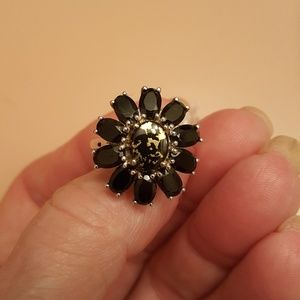 Jewelry - Goldenite/Thai Black Spinel 8.10ct Sterling Size 9